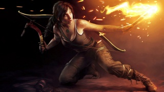 Tomb Raider, Lara Croft, bow, torch, the ice pick
