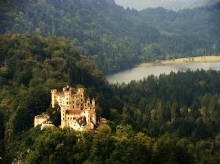 Німеччина, замок, замки Німеччини, краса, ліс, гори, озеро