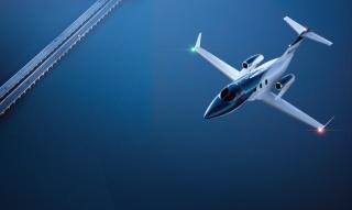 самолет, полёт, синий фон