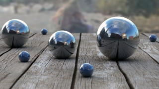 Balls, metal, reflection, Board