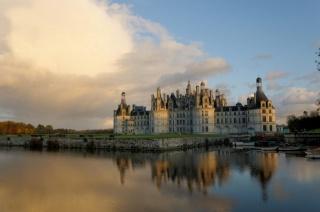 Франція, замок, замки Франції, замки світу, річка, небо, краса