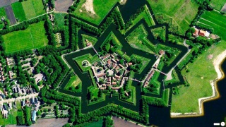 picture from space, Fort vlagtwedde, the Netherlands