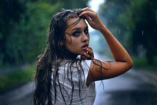 погляд, краплі, дощ
