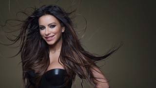 Ani Lorak, girl, brown hair, Ukrainka, singer, positive, the dark background, Carolina