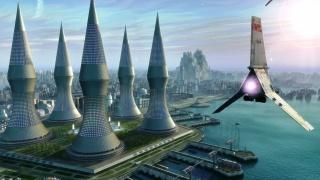мир будущего, город