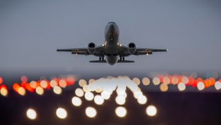 the plane, flight, macro, runway