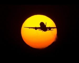 сонце, літак, політ