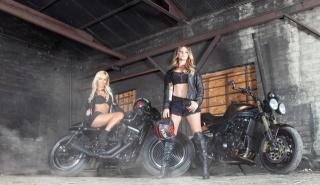 мотоциклы, девушки, блондинки, фото, креатив