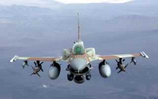 the plane, Fighter, F16, photo, flight
