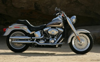 HARLEY-DAVIDSON, Softail, FLSTF Softail толстяк, FLSTF Softail толстяк 2007, мото, мотоциклы, Мото, мотоцикл, мотоцикл