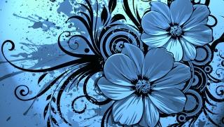 flowers, spray, spot, pattern