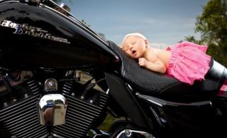 дівчинка, немовля, спляча, сон, пов'язка, спідничка, HARLEY-DAVIDSON