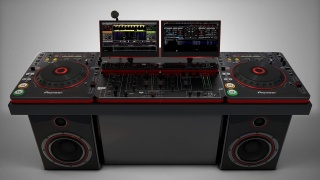Pioneer, DJ, equipment, Pioneer DJ, music, grey background