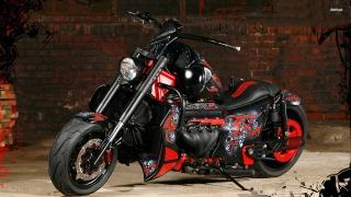 мотоцикл, байк, тюнинг, Красный