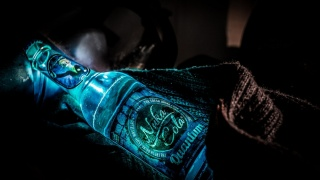 Fallout, Nuka Cola, Quantum bottle, lights, Shine, blue