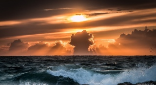 pros, photo, theme, the ocean, sunset, nature, clouds, beautiful