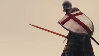 Воин, доспехи, шлем, щит, Меч, фон