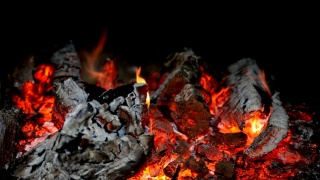 тлеет, дрова, пепел, костер, огонь