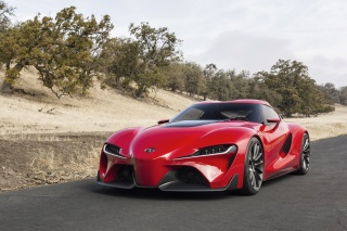 Toyota, FT-1, concept, the front, machine, red, car