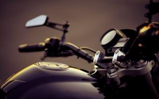 motocykl, Volant, makro