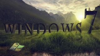 Windows 7, program, saver, grass, frog, mountains, sunset