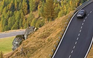 cesta, stromy, kameny, dopravní značení, příroda, krajina, výhled, sestup, Rolls-royce