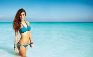léto, oceán, holka, příroda, krásně, modelka
