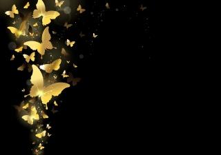 golden, Design, sparkle, Background, background, butterfly, gold