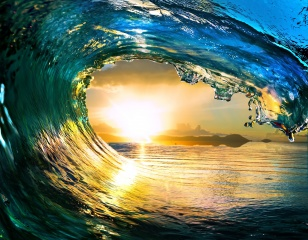 water, wave, sea, photoshop, shore, the sun, sunset, summer