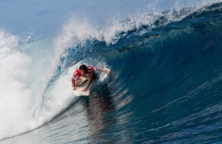 серфинг, волна, океан, доска, спортсмен, красота