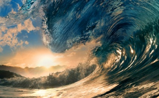 природа, лето, океан, волна, красиво, солнце, вода, брызги, макро, фото, горы, джунгли, природа, лето, океан, волна