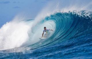 серфинг, волна, океан, доска, спорт, красота