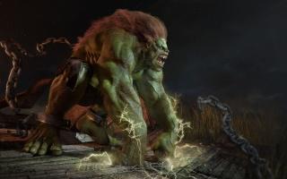abraao по, чудовище, монстр, зеленый