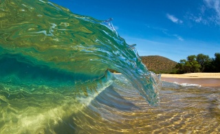 příroda, vlna, letovisko, téma, léto, oceán, pláž, krásně