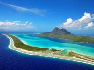 ostrov Bora-Bora, oceán, ostrov, krása