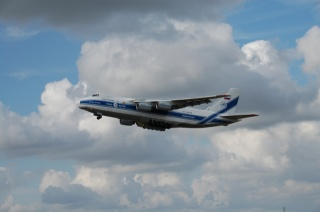 the plane, An-124, Ruslan, flight, clouds, the sky