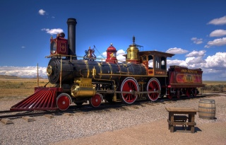 USA, Utah, desert, railway, the engine