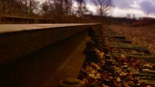 осінь, метал, залізничні шляхи, оксид