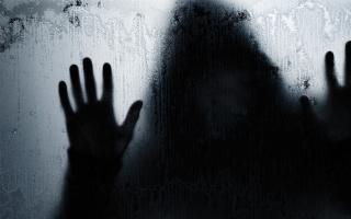 stín, člověk, ruce, silueta