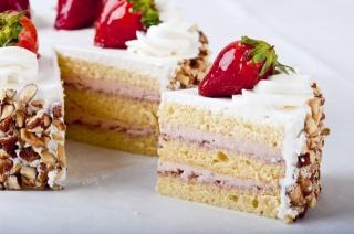 торт, клубника, десерт, еда, вкусно, сладость