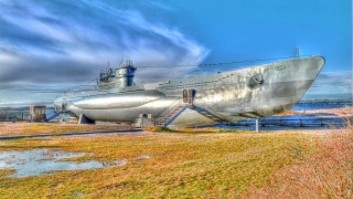 fleet, u-995, underwater, Museum, submarine, boat, ship