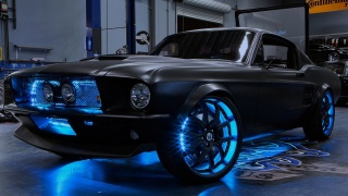 Mustang, Shelby, Neon, workshop