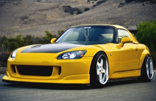 sports car, tuning, Honda, color, yellow, S2000, tuning, Honda, yellow