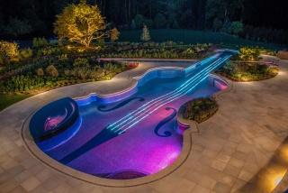 bazén, desigen, bazén, Design, housle, jacuzzi.