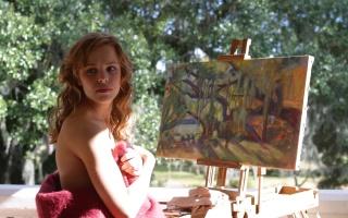 рейчел макадамс, щоденник пам'яті, картина, красуня, погляд, ранок, Рейчел МакАдамс, актриса, малює, промені сонця