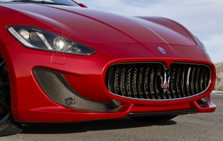 maserati, Grancabrio, the front, logo, grille, lights