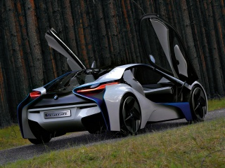 bmw, Vision, EfficientDynamics, concept, Door, back, the concept, BMW