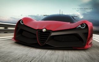 zero lm-c, Alfa Romeo, render, to make, Cars, zero LM - C, Cars