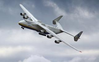 антонов, АН 225, Мрія, ан-225, мрія, самий, великий, вантажний, літак, в, світі, Украина, вага, 590 тонн, вантажопідйомність, 254 тонни, швидкість 762 км, небо, політ