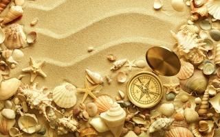 summer, sand, creative, shells, compass, summer, sand, creative, seashells, compass, starfish